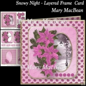 Snowy Night - Layered Frame Card