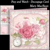 Posy and Watch - Decoupage Card