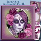 Sugar Skull, 8x8 Mini Kit ~ Halloween ~ Day of the Dead