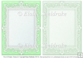 2 x A5 Green (2) Lace Frames for Card Making & Scrapbooking