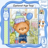 Party Boy Bear 7.5 Decoupage & Insert Kit