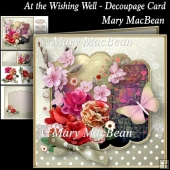 At the Wishing Well - Decoupage Card Front
