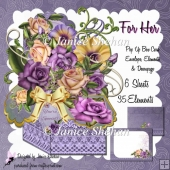 ROSES FLOWERS LACE 3D POP UP BOX CARD KIT