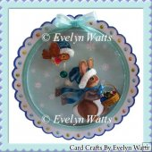 Bunny And Birdie Christmas Plate Card Kit