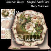 Victorian Roses - Shaped Easel Card
