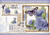 BUTTERFLY BLOSSOMS 4 SHEET MINI KIT Lilac