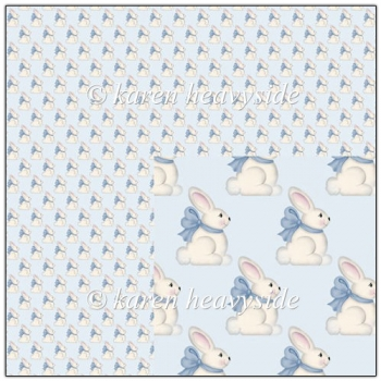Blue Bunny Backing Paper