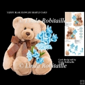 Teddy Bear Flowers Shaped Card