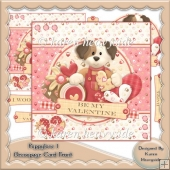 Puppylove 1 Decoupage Card Front