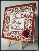 Ruby Wedding Anniversary 12x12 Keepsake - multi formats