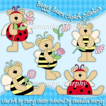 Buggy Bears Clip Art Download