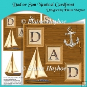Dad or Son Nautical Cardfront with Decoupage