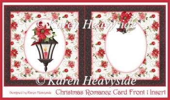 Christmas Romance Card Front 1 Insert