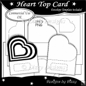 Heart Top Card Template