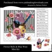Flower Bells & Blue Wren Mini Kit