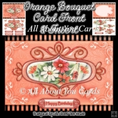 Orange Bouquet Card Front and Insert