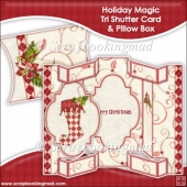 Holiday Magic Tri Shutter Card With Matching Pillow Box