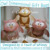 Owl Dimensional Gift Bags