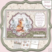 WILD FOREST - FOX Christmas A5 Pyramage & Insert Kit