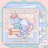 Ellie Wrapped With Love 8x8 Decoupage Kit