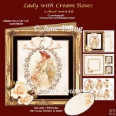 Lady With Cream Roses - 3-Sheet Mini-Kit
