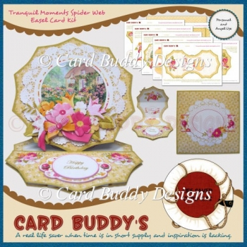 Tranquil Moments Spider Web Easel Card Kit