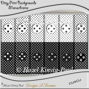 Ditsy Print Backgrounds - Monochrome