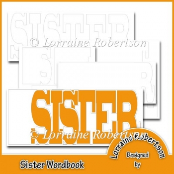 Sister Word book Template Personal Use