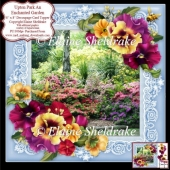 Upton Park An Enchanted Garden 8x8 Floral Decoupage Card Sheet