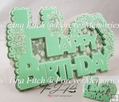 Happy Birthday Card TF0245, SVG, MTC, SCAL, CRICUT, CAMEO