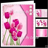 Spring Flowers Pink Tulips Mini Kit