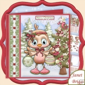 Christmas Robin Dressing Tree 7.5 Decoupage & Insert Kit