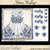 7.5 x 7.5 Card Topper Winter Wedding