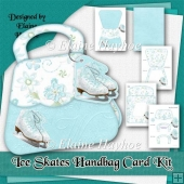 Holiday Charm Ice Skates Handbag Shaped Card Kit