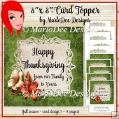 Green 8x8 Autumn, Thanksgiving, Birthday and Blank Card Kit (BT)