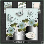 Vintage Stripes and Flowers Card Kit 1097