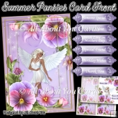 Summer Pansies Card Front and Insert Plate