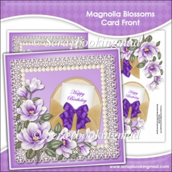 Magnolia Blossoms Card Front
