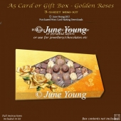 A5 Card or Gift Box - Golden Roses