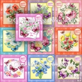 10 BUTTERFLIES AND FLOWERS CARD FRONTS