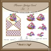 Flower Spring Card - Set 1