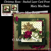 Christmas Roses - Stacked Layer Card Front