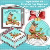 Flight School 3D Christmas Tree Ornament With Card & Gift Box