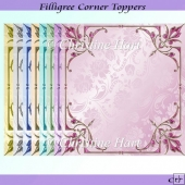 Filligree Corner Toppers CU