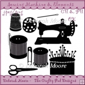 Sewing Machine and Elements Set