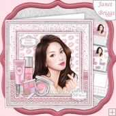 MAKEUP GIRL 7.5 Decoupage & Insert Card Kit