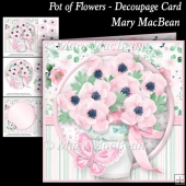 Pot of Flowers - Decoupage Card