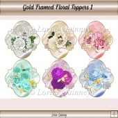 Gold Framed Floral Toppers 1