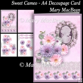 Sweet Cameo - A4 Decoupage Card