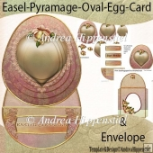 Easel Pyramage Card Golden Heart